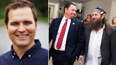 ap gty zach dasher willie robertson vance mcallister jc 140701 16x9 608 Duck Dynasty Kin Readies for Kissing Congressman in House Race