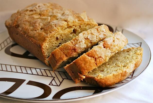 Brown Butter Banana Bread with Fresh Ginger