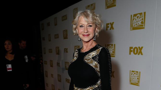 Actress Helen Mirren attends the Fox Golden Globes Party on Sunday, January 13, 2013, in Beverly Hills, Calif. (Photo by Todd Williamson/Invision for Fox Searchlight/AP Images)