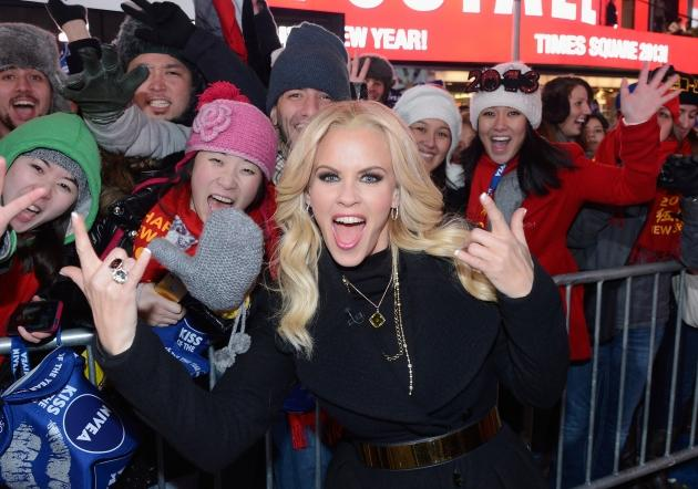 Jenny McCarthy hosts Dick Clark's New Year's Rockin' Eve with Ryan Seacrest 2013 in Times Square on December 31, 2012 in New York City -- Getty Images