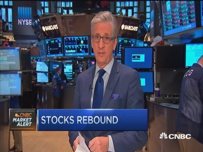 Stocks close sharply higher in rebound; Nasdaq out of correction