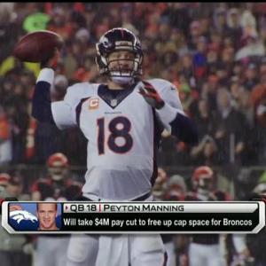 Denver Broncos quarterback Peyton Manning to take pay cut