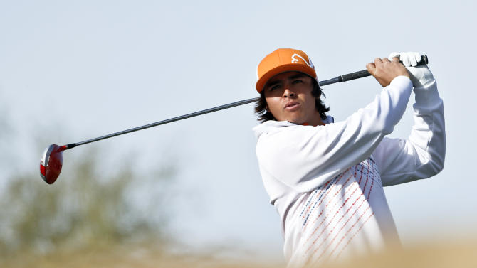 Rickie Fowler tees off on the 15th hole during the first round of the Waste Management Phoenix Open golf tournament, Thursday, Jan. 31, 2013, in Scottsdale, Ariz. (AP Photo/Ross D. Franklin)