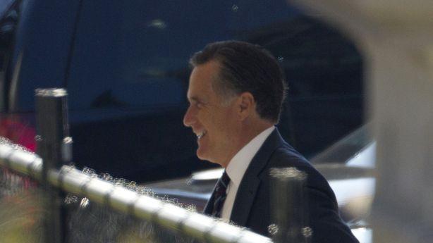 Mitt Romney Looks Pretty Presidential for His Lunch at the White House Today