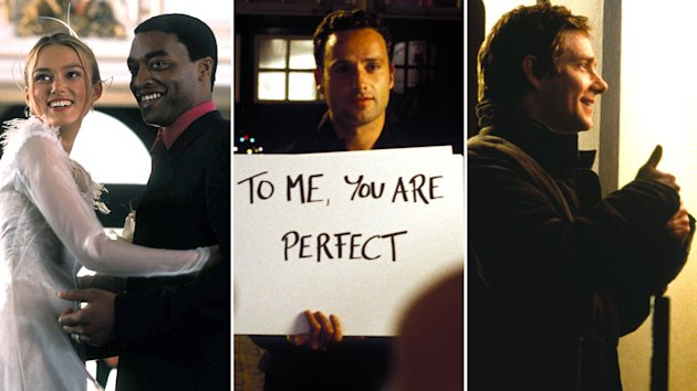 "Keira Knightley, Chiwetel Ejoirfor, Andrew Lincoln and Martin Freeman in ""Love Actually"" (Photo: Everett Collection)"