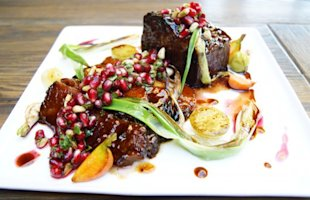 This holiday dish balances the savory character of brisket with pomegranate, providing something sweet to symbolize a sweet new year.