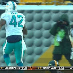 Miami Dolphins tight end Charles Clay refuses to go down, gets in for the TD