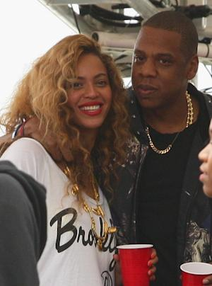 Beyonce and Jay-Z are seen backstage at the Budweiser Made In America Festival Benefiting The United Way - Day 2 in Philadelphia, Pennsylvania on September 2, 2012 -- Getty Premium