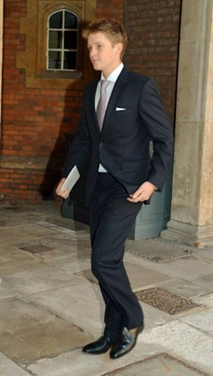 Hugh at the royal christening.