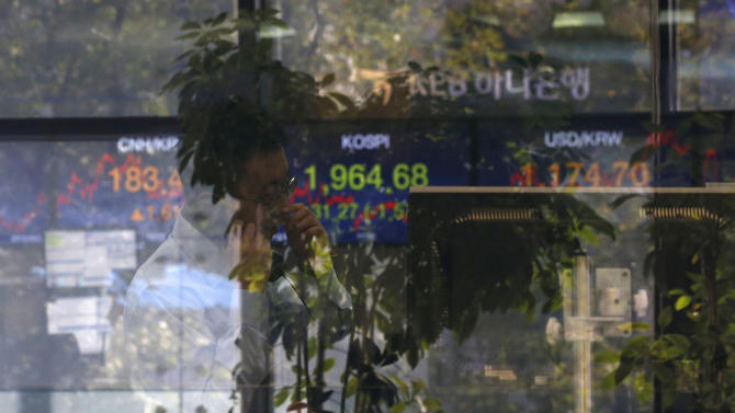 Stocks gain, led by financial shares; drugmakers drop