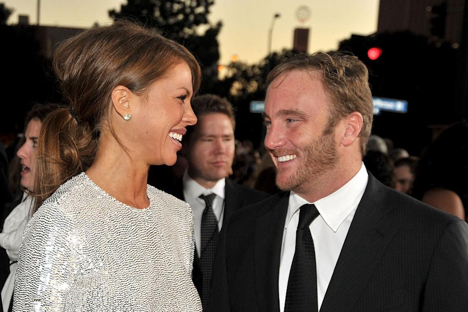 Nikki Cox and Jay Mohr arrive at the 35th Annual People's Choice Awards held at the Shrine Auditorium on January 7, 2009 in Los Angeles, California.