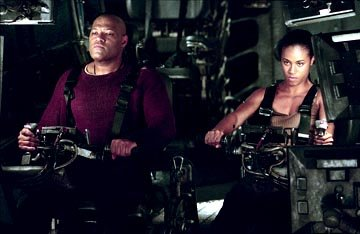 Laurence Fishburne and Jada Pinkett Smith in Warner Brothers' The Matrix: Revolutions