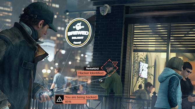 """This video game image released by Ubisoft shows a scene from """"Watch Dogs.""""   Ubisoft's """"Watch Dogs"""" is about a super-hacker who can eavesdrop on phone conversations. It is among several games being hyped at the Electronic Entertainment Expo featuring ripped-from-the-headlines realness. (AP Photo/Ubisoft)"""