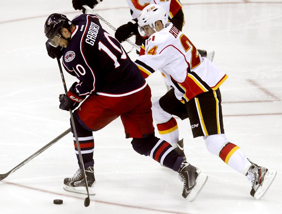 Flames slip past Blue Jackets 4-3