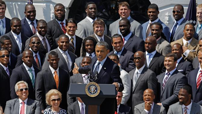 President Obama Hosts Super Bowl Champions The New York Giants