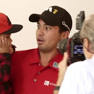 Jason Day and His Son Behind the Scenes at Their Golf Digest Cover Shoot