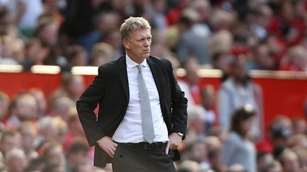 Manchester United's manager David Moyes during the game against West Bromwich Albion (PA Photos)