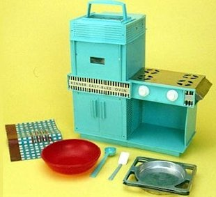 Then: The first Easy Bake Oven circa 1963