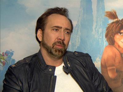 Nicolas Cage Turns Caveman for 'The Croods'