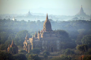 In this Aug. 15, 2013 photo, ancient temples stand…