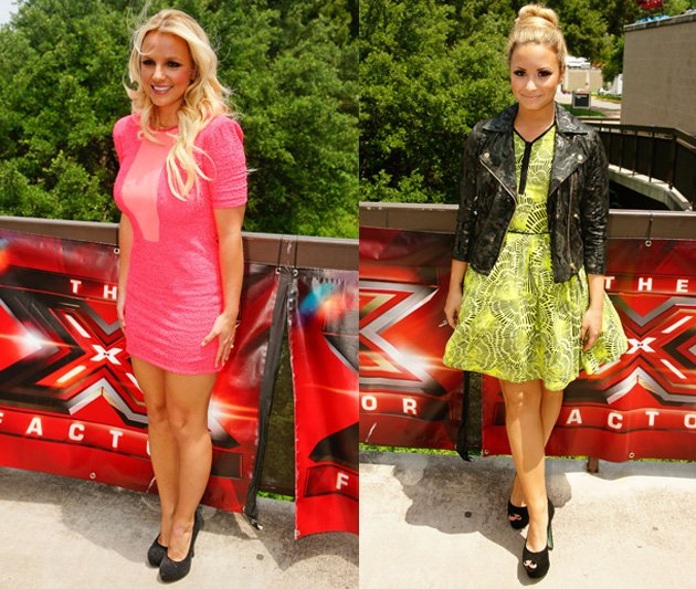 Britney Spears, Demi Lovato, X Factor USA auditions