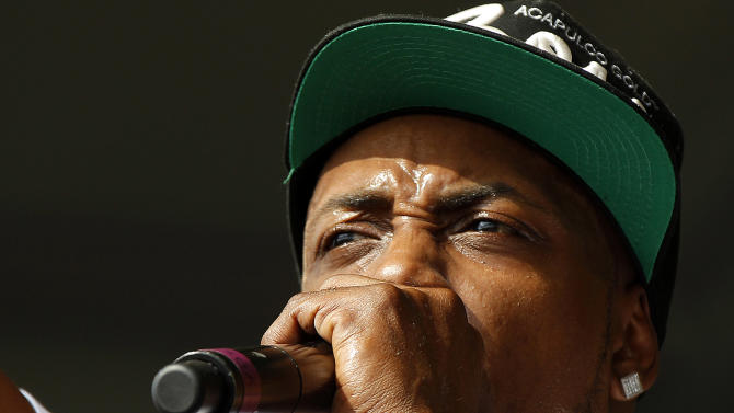 Mystikal performs at the New Orleans Jazz and Heritage Festival in New Orleans, Friday, May 4, 2012. (AP Photo/Gerald Herbert)