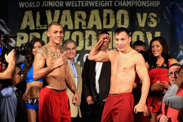 Mike Alvarado v Ruslan Provodnikov - Weigh-In