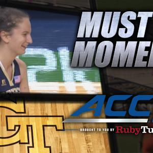 GT's Antonia Peresson Sinks 50-Foot Buzzer-Beater | ACC Must See Moment