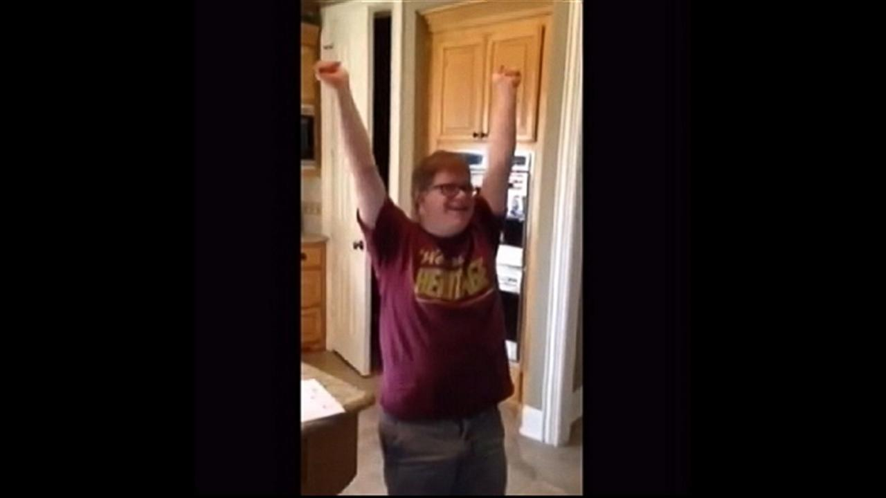 Special Needs Teen Gets First Job, and His Reaction Is Priceless