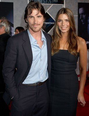 Christian Bale and wife Sibi Blazic at the Hollywood premiere of Touchstone Pictures' The Prestige