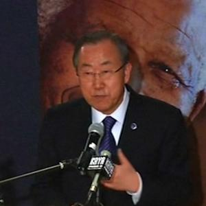 Ban Ki-moon reflects on Mandela's 'mighty life'