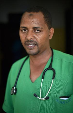 Nutrition expert Yusuf Sheikh Abdi, seen at the SAACID …