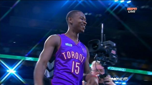 Raptor Wins Dunk Contest