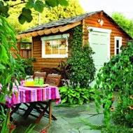 Courtyard shed