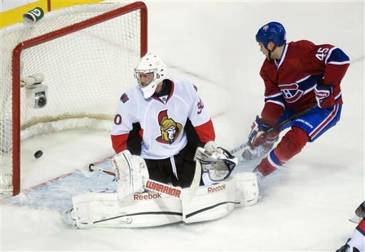 Cole scores 3 goals in first 5:41 for Canadiens