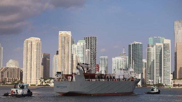 Port in the city of Miami, Florida, on May 14, 2013