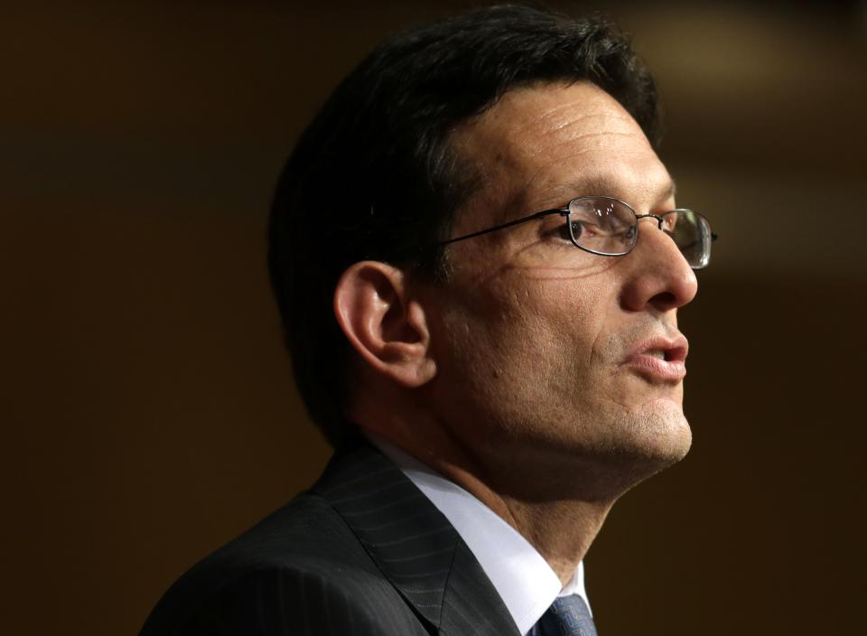 Cantor offers softer GOP message