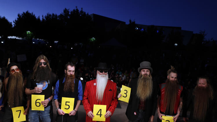IMAGE TO BE DISTRIBUTED MONDAY, NOVEMBER 12 at 8AM ET.  A general view of atmosphere during the 2012 National Beard and Moustache Championship, on Sunday, Nov. 11, 2012 in Las Vegas.(Photo by Isaac Brekken/Invision for Panasonic/AP Images)
