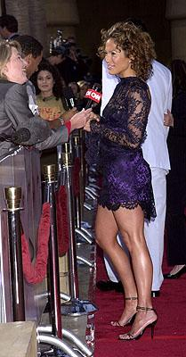Jennifer Lopez at the Hollywood premiere of Warner Brothers' Angel Eyes