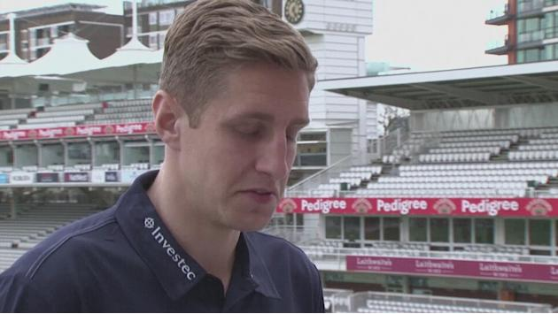 Stuart Broad gives Michael Dawson a cricket master class [AMBIENT]