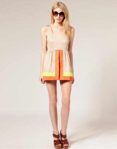 Colourblock Dress with Shorts, $68.96, at ASOS