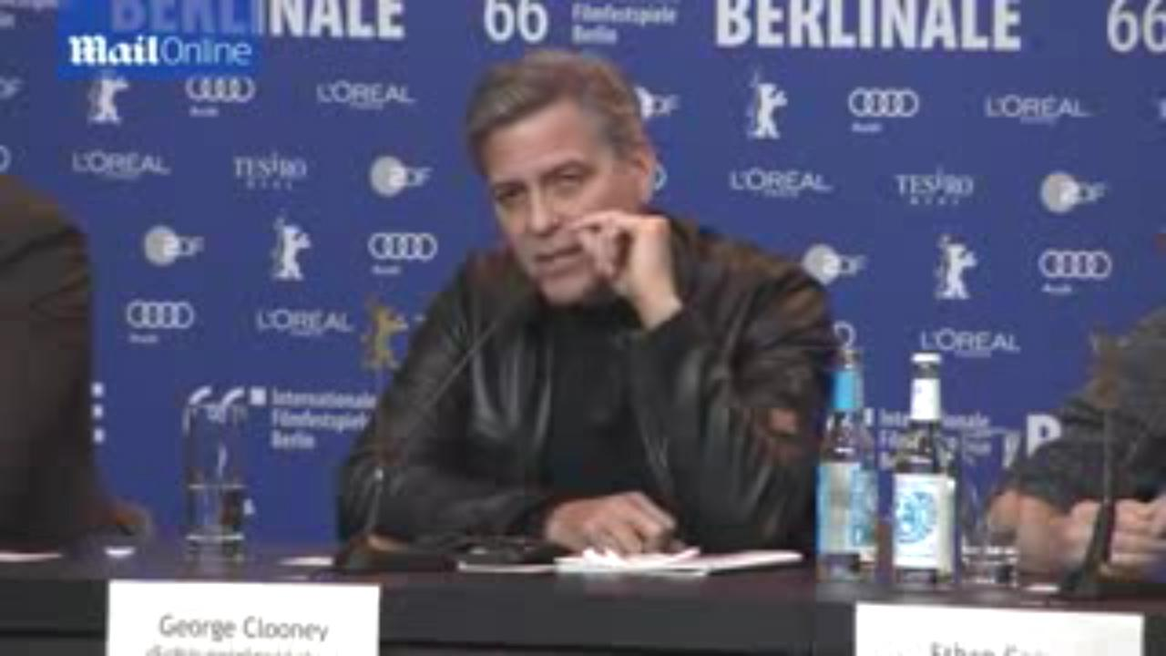 George Clooney Loses His Cool With Reporter Over Refugee Question