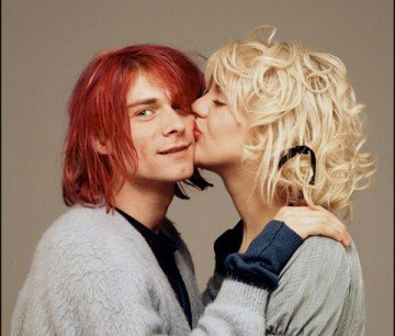 9. Kurt Kobain and Courtney Love