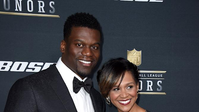 Ben Watson of the New Orleans Saints, left, and Kirsten Watson arrive at the 5th annual NFL Honors at the Bill Graham Civic Auditorium on Saturday, Feb. 6, 2016, in San Francisco. (Photo by Jordan Strauss/Invision for NFL/AP Images)