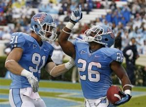 North Carolina rolls past Idaho 66-0