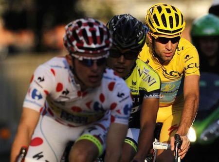 Astana team rider Vincenzo Nibali of Italy cycles during the Tour de France Saitama Criterium race in Saitama