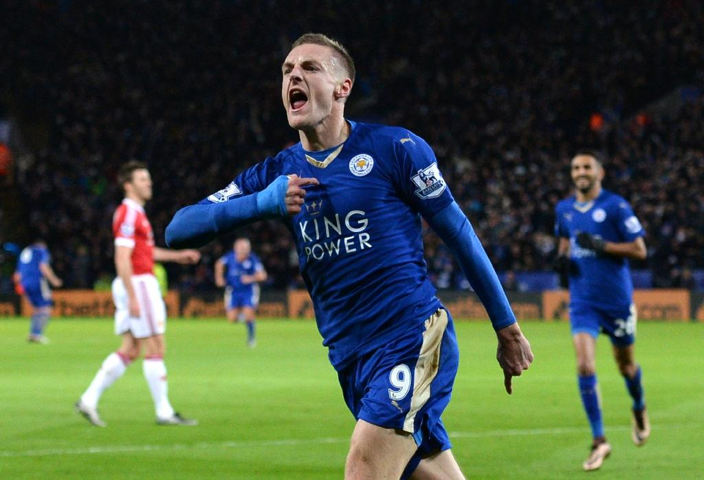 Vardy makes history as Leicester match United