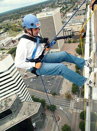 Rappel from Parmenter's Buildings to Help Raise Money for the Special Olympics