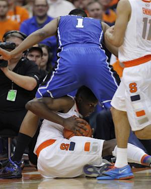 No. 2 Syracuse beats No. 17 Duke 91-89 in OT