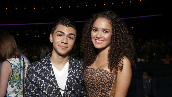 Adam Irigoyen and Madison Pettis attend the Radio Disney Music Awards at the Nokia Theatre on Saturday, April 27, 2013 in Los Angeles. (Photo by Todd Williamson /Invision/AP)
